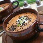 Рецепт: лососевый суп с кунжутом