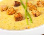 Рецепт: картофельный суп с гренками