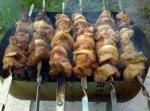 Шашлык из свинины, маринованный в вине
