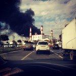 В Краснодаре на территории ТЭЦ тушат пожар