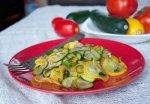 Летний салат из кабачков