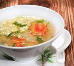 Японский суп с крабами и яйцом