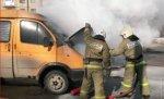 В Волгограде на глазах у прохожих сгорело маршрутное такси
