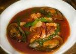 Суп с мидиями и морепродуктами