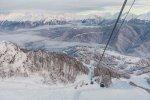 Из- за сильного снегопада горнолыжные трассы в Сочи сегодня временно закрыты
