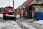 Пожар на улице Обороны в Белой Калитве