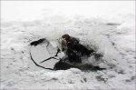 В Батайске 10-летний ребенок едва не погиб под льдом