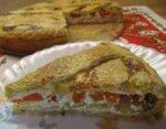 Пирог с кабачками, помидорами и брынзой