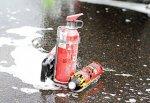 Водитель сгоревшей «Лады», кидался в проезжавшие авто огнетушителями в Ростове