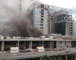 Пожар в строящемся пятизвездочном отеле в Ростове ликвидирован