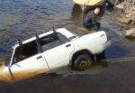 В г. Шахты подняли автомобиль со дна водохранилища поселка ХБК