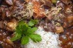 Гуляш с грибами и болгарским перцем