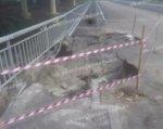 В Ростове ремонтируют мост, часть которого размыло дождем