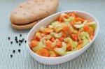 Салат из лосося, сельдерея и моркови
