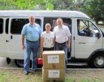 Для школьников Донбасса собрали сотни коробок с канцтоварами
