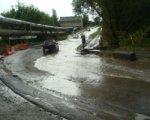 Очевидцы сообщили о подтоплении улицы Пескова в Ростове