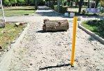 Труба-барьер появилась в парке Молодежном