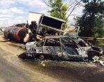 На М-4 «Дон» в крупном ДТП загорелся битумовоз, два человека погибли