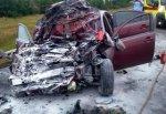 На трассе М4 разбился Mitsubishi Galant