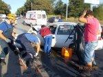 В г. Шахты лоб в лоб столкнулись 2 такси «Ниссан-Тиида» и «Дэу-Нексия»
