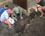 Под Таганрогом при установке рекламного щита обнаружены останки солдата