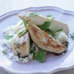 Курица с рисом и мятным соусом