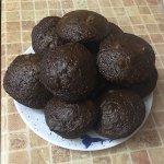 Шоколадные йогуртовые кексы с маршмеллоу