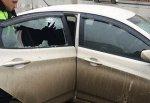 Разбили стекло «Соляриса» в г. Шахты и украли деньги