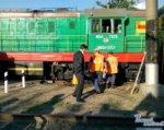 В Ростове локомотив сошел с рельсов