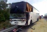 Автобус врезался в грузовик и каток на трассе М4, пострадали 6 пассажиров