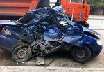 Fiat разбился об автобус ПАЗ, водитель иномарки погиб