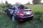 В перевернувшемся на трассе Hyundai Solaris погиб пассажир