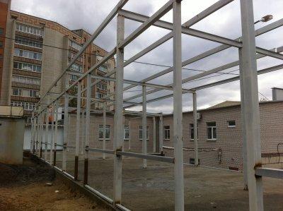 На Намыве в районе афганского рынка построены новые молочные прилавки