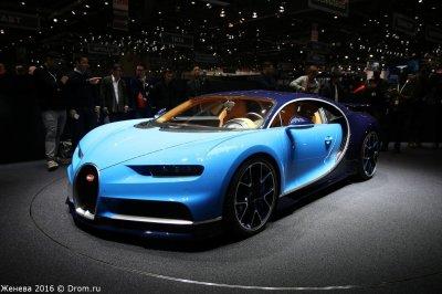 Первый выпущенный Bugatti Chiron уже разбили