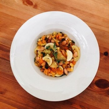 Рецепт осеннего рагу с фасолью и тыквой