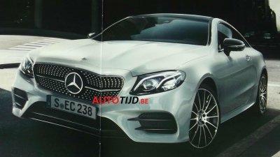 В интернет попали фото нового Mercedes E-класса купе