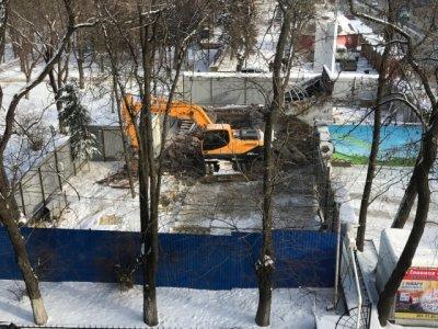 Несмотря на протесты ростовчан, стройка в районе парка Горького продолжается
