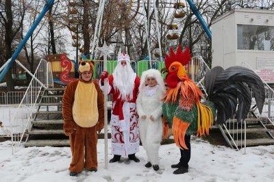 В парке им. Маяковского в кафе «Золотая рыбка» прошли новогодние представления