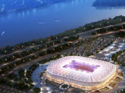 На «Ростов-Арене» появился нижний слой футбольного поля