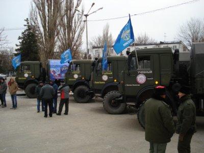 Белокалитвинское отделение ДОСААФ устроило автопробег