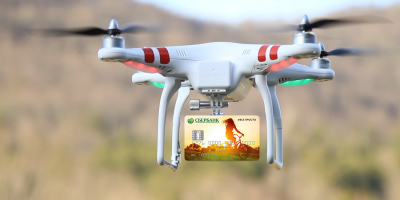 Сбербанк тестировал доставку банковских карт дронами