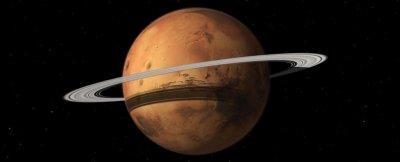 Компьютерные модели показывают, что пыль со спутников Марса начинает формировать ему кольца
