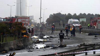 Четверо погибших при крушении вертолета в Стамбуле были петербуржцами