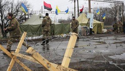 Радикалы намерены продолжать блокаду Донбасса до выполнения их требований