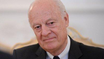 Де Мистура направил РФ письмо с призывом принять меры по перемирию в Сирии