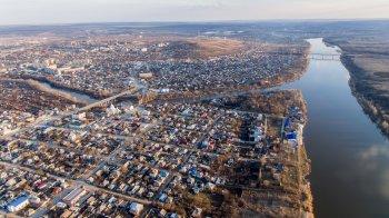Полёты над городом Белая Калитва - разлив реки Калитва и Заречный