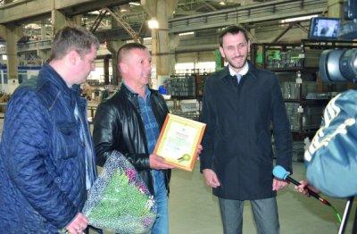 Белокалитвинскому предприятию ООО «БК-Алпроф» вручено свидетельство о присвоении знака соответствия сертификации