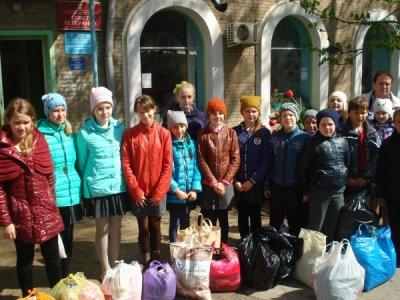 Учащиеся Богураевской школы посетили Белокалитвинское отделение Красного Креста