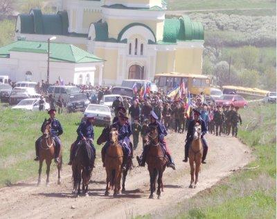 В Белокалитвинском районе состоялись двенадцатые военно-полевые сборы казаков