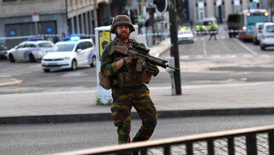 В центре Брюсселя приостановили движение общественного транспорта